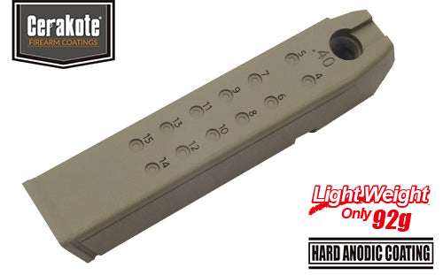 Guarder  Aluminum Magazine Case for MARUI G17/18C/22/34 (.40/Cerakote FDE)