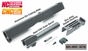 Guarder Aluminum Slide & Steel Barrel Set for TM G17 (2018 Ver. / Black)