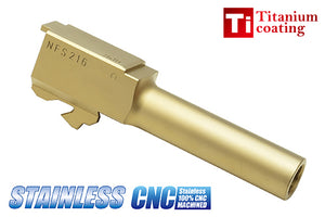 Guarder Stainless Outer Barrel for MARUI G26 (Titanium Gold)