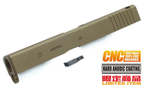 Guarder 6061 Aluminum CNC Slide for KJWORK G23 (TAN)