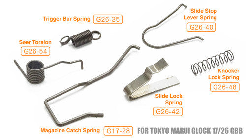Discount Auto Parts Online >> Guarder Enhanced Spring Set For MARUI/KJ/WE G-Series – Rainbow8 Airsoft Online Store