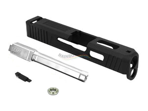 GunsModify S-Style Aluminum CNC Slide W/ KKM Silver Barrel for Marui G18C GBB