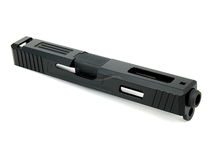 GunsModify Alu CNC Slide / Stainless 4 fluted Black barrel Set for Marui G17