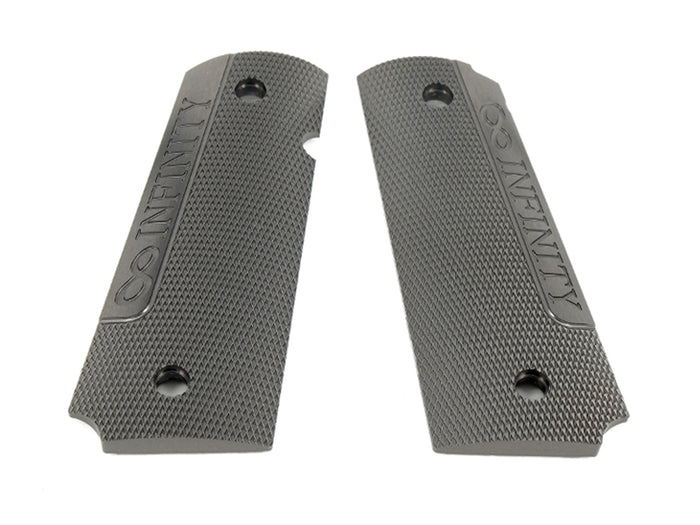 Airsoft Masterpiece 1911 Aluminum Grip Plates (Infinity) Grey