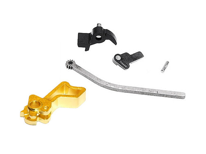 Airsoft Masterpiece CNC Steel Hammer & Sear Set for Marui Hi-CAPA (Infinity Square) Type 14 (Gold)
