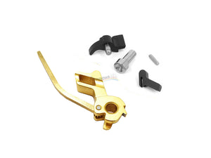 Airsoft Masterpiece CNC Steel Hammer & Sear Set for Marui Hi-CAPA (STI Square Type 12) (Gold)