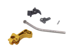 Airsoft Masterpiece CNC Steel Hammer & Sear Set for Marui Hi-CAPA (Infinity SV) Type 3 (Gold)^