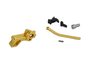 Airsoft Masterpiece CNC Steel Hammer & Sear Set for Marui Hi-CAPA Type 6 (STI Square) (Gold)