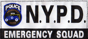 NYPD EMERGENCY SQUARD White Patch (Medium)