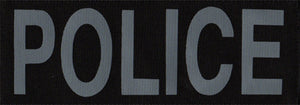 POLICE Grey Patch (Large)