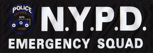 NYPD EMERGENCY SQUAD Patch (Large)
