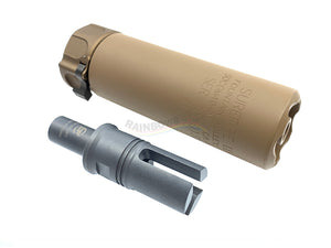 SF SOCOM Suppressor with 12mm CW Flash Hider For KWA / VFC MP7A1 (FDE)