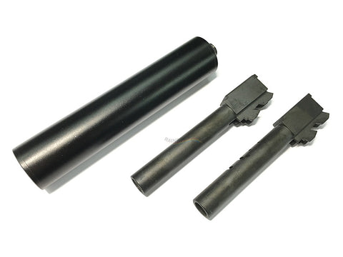 KSC Metal Threaded barrel & Silencer Set FOR KSC G17 / G18C