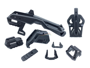 Tactical Rail Brace Kit For Umarex, Marui G-Series with Holster Full Set (Black)