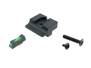 War Zone T-Style Steel Front & Rear Sight Set for Marui G-Series