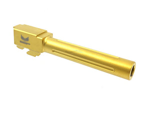 GunsModify SF 17 Stainless Fluted Barrel for Marui G17 (Nitride Gold) - New Version