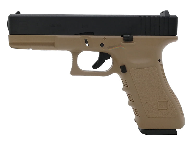 APLUS Custom KJ Works KP17 GBB/CO2 Pistol (TAN)