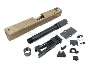 Ready Fighter Jagerwerks Downrange  Slide & Barrel Set For Marui G17 GBB (Bronze)