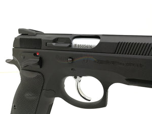 APLUS Custom KJ Works CZ 75 SP01 Shadow with Silver Threaded Barrel GBB/CO2 Pistol