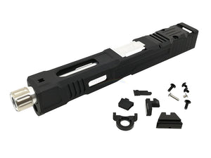 Ready Fighter FI Style MK2 Slide with (Black / Silver) Barrel Set For Marui G18C/17 GBB