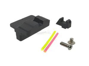 Airsoft Masterpiece Aluminum Fiber Optic Front & Rear Sight for G17 GBB