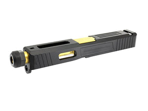 GunsModify Alu CNC Slide / Stainless Threaded (Gold) Barrel Set for Marui G19