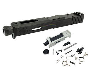 GunsModify SA Style RMR Slide / Threaded Stainless Barrel (Black) / Housing & Parts Set For Marui G17