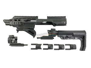Pistol to Carbine Conversion Full Kit Set (Black)