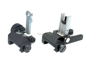 KAC Style CNC 300mm Front and Rear Sight (Black)