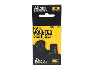DD Style Rail Mounted Sight Set