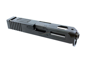 Z Style Aluminium Slide & Stainless Steel Barrel For Marui G26 GBB (Black)
