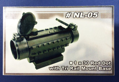 1 X 30 Red Dot with Tri Rail Mount Base