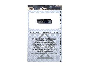 Blackjack Tactical Weapon Code Label For MK25 P226 Model