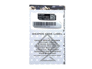 Blackjack Tactical Weapon Code Label For MK17 Mod 0 / SCAR-L Model