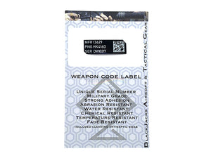 Blackjack Tactical Weapon Code Label For HK416D Model