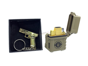 Glock G19X Collection Lighter with Metal Key Chain (FDE)