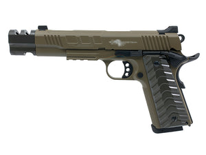 KJ Works KP16 Full Metal ATEi Costa Ver. GBB/CO2 Pistol (FDE)
