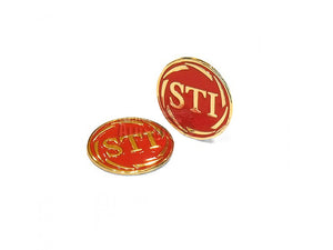 ADEPOT CUSTOM STI Style Metal Grip Badge for Hi-Capa (Gold Red)