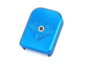 Airsoft Masterpiece SV Infinity Diamond Aluminum Magazine Base (2018 Ver.) For Marui 5.1 (Blue)