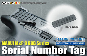 Guarder Series No. Tag for MARUI M&P 9 (Black)