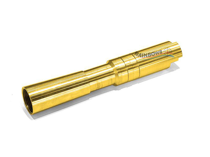 Airsoft Masterpiece .35 CALIBER Fix Outer Barrel for Compensator For Hi-CAPA 4.3 (Gold)