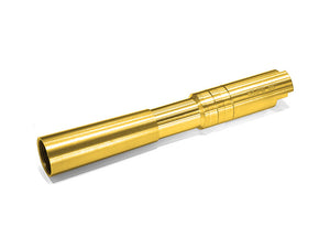 Airsoft Masterpiece .38 Super Golden Fix Outer Barrel for Compensator For Hi-CAPA 5.1 (Gold)