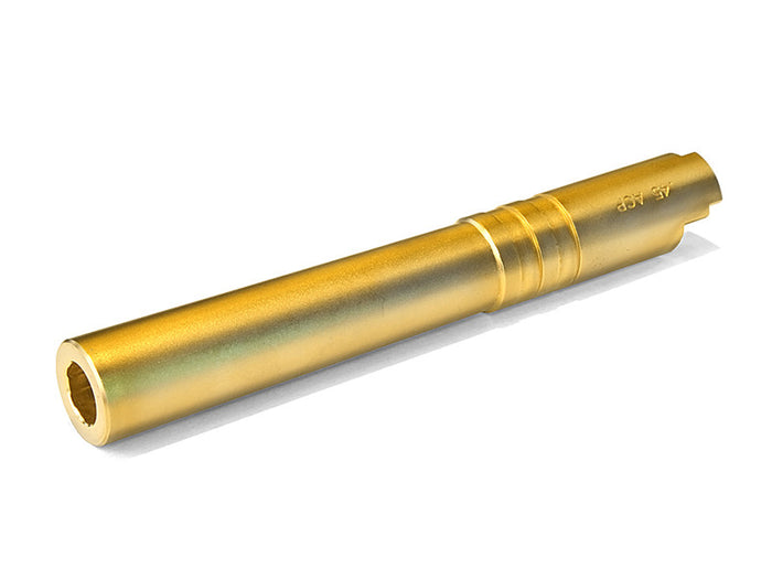 Airsoft Masterpiece .45 ACP GOLDEN STEEL Fix Outer Barrel for Hi-CAPA 5.1