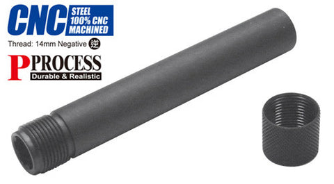 Guarder Steel Threaded Outer Barrel for TM P226 (14mm Negative)