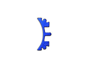 Airsoft Masterpiece Aluminum SV Puzzle Trigger Ring - Short Curve Blue