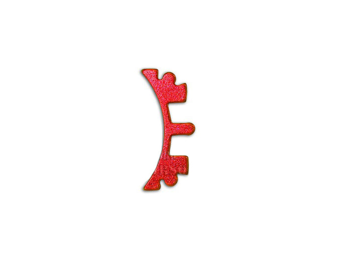 Airsoft Masterpiece Aluminum SV Puzzle Trigger Ring - Short Curve Red