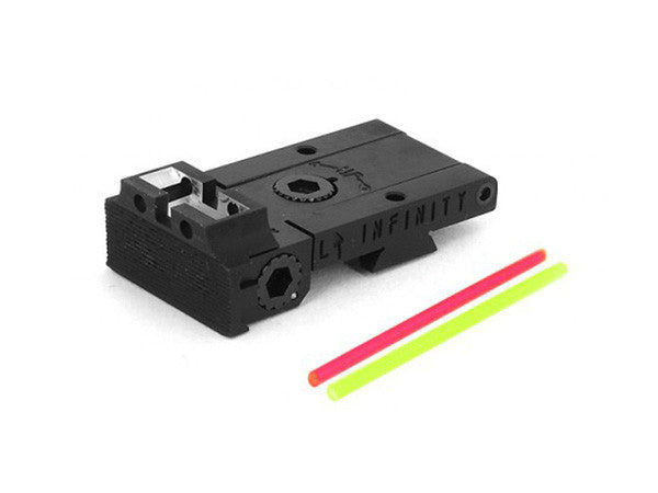 Airsoft Masterpiece Aluminum Rear Sight with Fiber for Hi-CAPA - Infinity