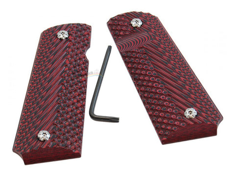 DAA 1911 Carbon / G10 Grips (Red)
