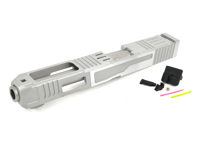 Gunsmith Bros FI-Style G34 Aluminum Slide (Silver) & Stainless Barrel (Silver) Kit Set