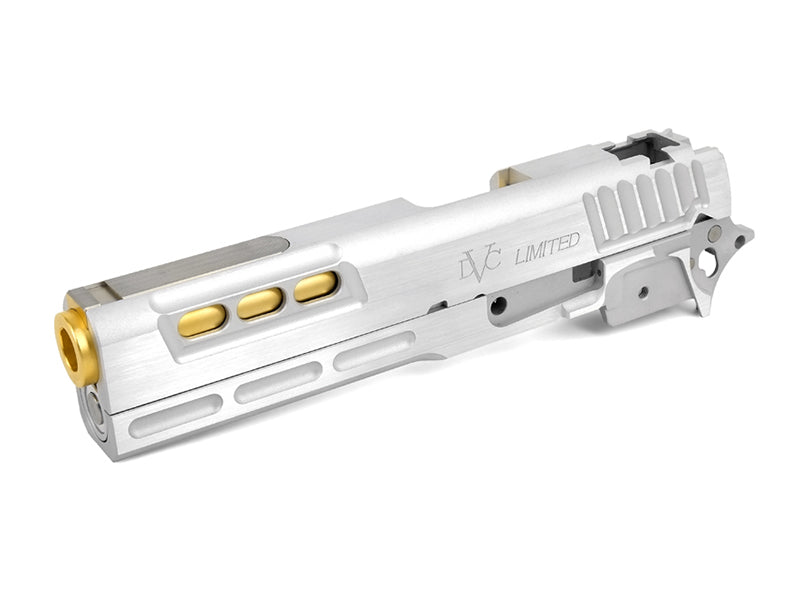 Airsoft Masterpiece STI DVC Limited Sight Tracker Standard Slide Kit for  Hi-CAPA (Silver)